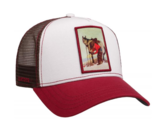 stetson horseshoe trucker cap pet rood