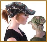 bandanacap klepje groen zomer haarbescherming hoofdbescherming