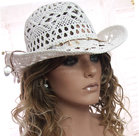 zomerhoed cowboy wit