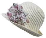 a symetrische hoedje cloche zomerhoed dameshoed