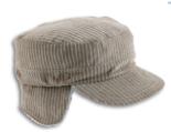 army corduroy oorflappen oorwarmers beige winterpet