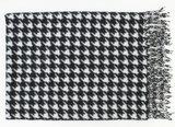 XXL houndstooth print sjaal omslagdoek zwart wit van Indini_
