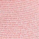 Mooie grote oprolbare zonneklep van papierstro in roze_