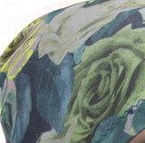 Basismuts met bloemen kleur olive voor chemo haarverlies_