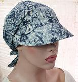 hoofddoekje hoofddoek blauw print