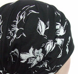 bandana zwart blaadjes