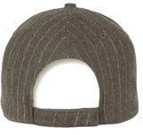 Piccadilly Grigio grijze baseball cap met pinstripe_