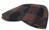 winterpet wol ruit bruin blauw