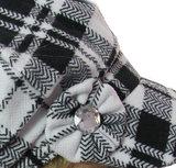 Baretje met ruit in 4 kleuren met grote strass steen_