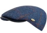 blauw donkerblauw rood streepje wol wollen