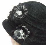 warme winterhoed angora acryl