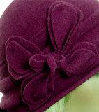 winterhoed trendy paars roze pink