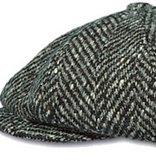 pet winter cap tweed visgraat