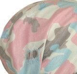 camouflage print roze blauw wit zomer