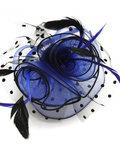 kobaltblauw tule veren