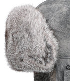 Stetson Bomber Cap pigskin / rabbit leren pilotenmuts vliegeniersmuts lapeer kleur grijs_