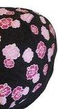 flower hoofddoek zwart roze
