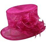 mayfair roze organza hoed