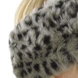 oorwarmer leopard grijs bruin