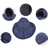 Zonneklep kleur blauw extra groot extra bescherming_