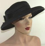 bruidsmoeder hoed zwarte hoed nette hoed