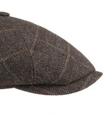 Stetson BROOKLIN 6 panel cap wool glencheck in bruinmix_