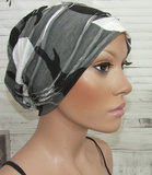 Chemo beanie dubbellaags met ribbels camouflage _