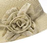 Cloche jaren 20 style van toyostro kleur naturel met bloem_