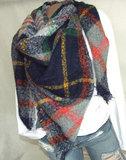 ruit sjaal omslagdoek winters