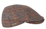 Hatland TOFT geruite flatcap in bruin mix_