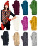 wanten gekleurd dames winter kabel acryl fleece