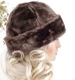 bruin warme hoed bonthoedje