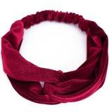 Trendy haarband hoofdband fluweel stof in verschillende kleuren_