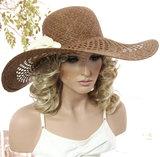 bruine hoed gelegenheidshoed zomerhoed