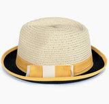 trilby geel zwart hoed