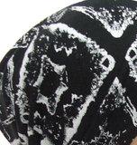 Chemo muts hoofddoekje bandana zwart fantasie print_