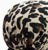 Chemo haarverlies bandana met luipaard motief_
