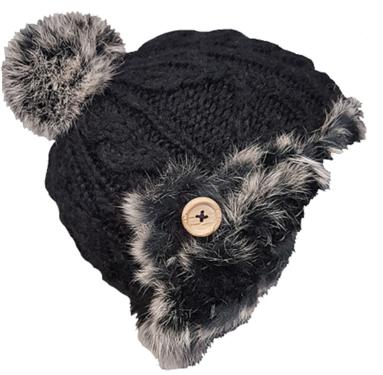 Wintermuts by Herman met bontrandje kleur zwart