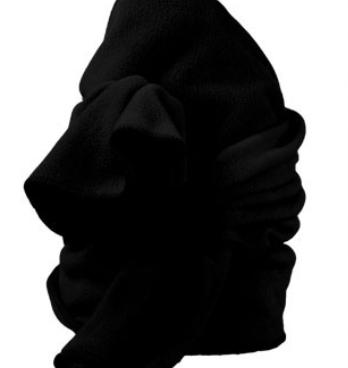 Zwarte fleece sjaal van Bernardino