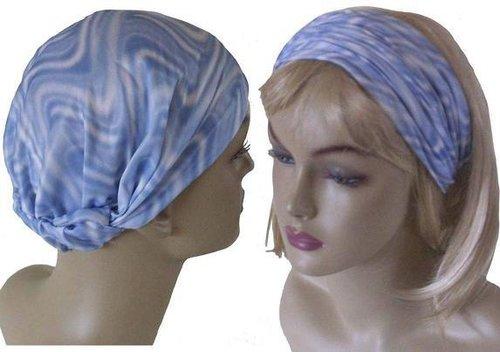 Multifunctionele haarband kleur batik lichtblauw