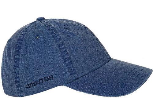 Hatland JOEY washed denim katoenen zomerpet kleur navy blauw