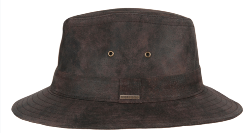 Hatland THURMAN leren hoed kleur bruin