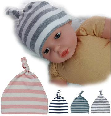 Babymutsje gestreept van organic cotton van Babybugz in verschillende kleuren