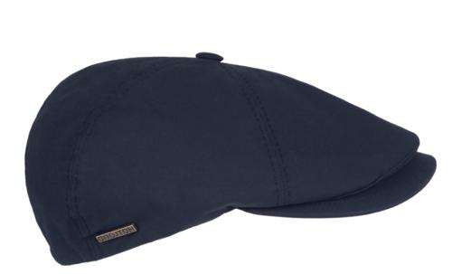 Hatland TYFOON waxed cotton pet waterafstotend kleur navy blauw
