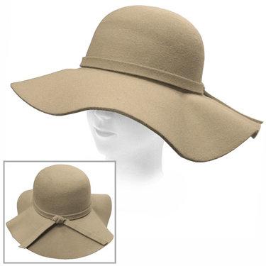 Trendy dames Flaphoed kleur beige taupe