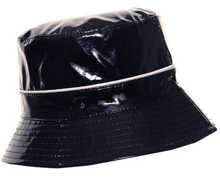 Lak bucket regenhoedje kleur donkerblauw