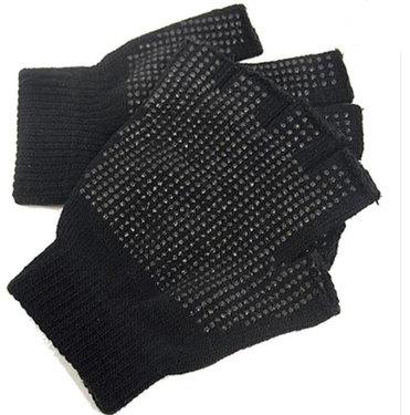 Magic Gloves Zwarte vingerloze handschoenen met grip