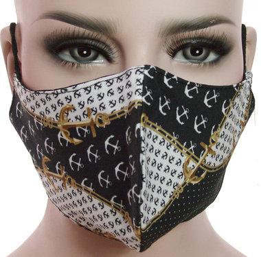 Mondkapje mondmasker wasbaar stoffen herbruikbaar anker maritiem print