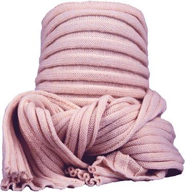 Dames sjaal wintersjaal van acryl kleur lichtroze