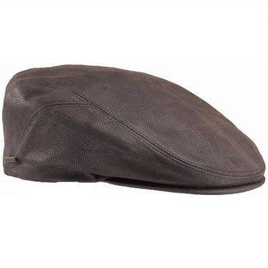 QUILCENE Leder Flatcap by STETSON USA